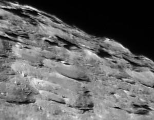NASA LCROSS Cabeus impact site - pre-impact